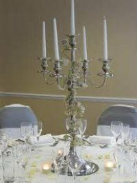 wedding silver candelabra for hire